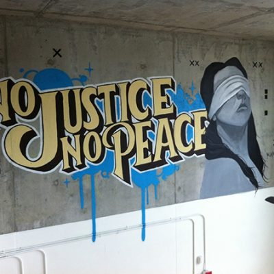 No Justice No Peace Art
